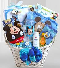baby baskets mickey mouse basket of baby boy surprises gift basket delivery