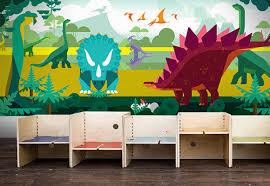 chambre dinosaure poster mural dinosaure papier peint enfants