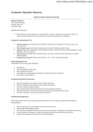 Resume Format Pdf Download Free by Resume Format For Computer Operator Pdf Professional Resumes