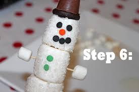 snowman marshmallows snowman add mini marshmallows ends your toothpick tierra este