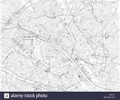 Map Of Paris France Map Of Paris Satellite View Streets And Highways France Stock