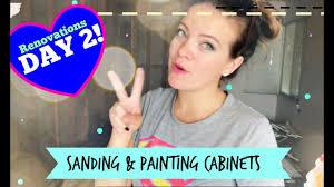 Sanding Kitchen Cabinets Yourself Sanding U0026 Painting The Kitchen Cabinets Youtube