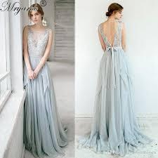 dusty wedding dress discount outdoor wedding 2017 sleeveless dusty blue wedding dress