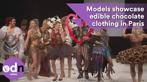 edible clothing models showcase edible chocolate clothing in