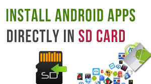 android install apps to sd card how to install android apps onto sdcard by default