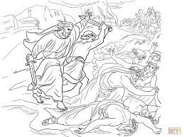 elijah defeats the prophets of baal coloring page free printable