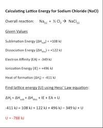 lattice energy definition trends u0026 equation video u0026 lesson