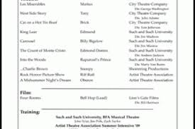 Sample Acting Resume For Beginners by Acting Cv 101 Beginner Acting Resume Example For Inexperienced