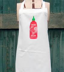 sriracha bottle back sriracha bottle apron home kitchen u0026 pantry sunday drive