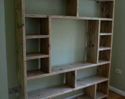 reclaimed wooden future rustic room divider shelving unit