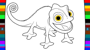 animal coloring pages how to draw a cartoon chameleon drawing