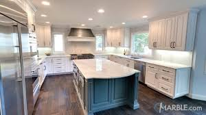 Classic White Interior Design White Lunar Quartzite With A Classic Ogee Edge