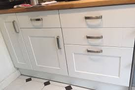 gloss white kitchen cabinet doors with hinges and handles great