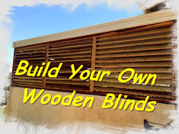 Wooden Louvre Blinds How To Make Wooden Blinds Youtube