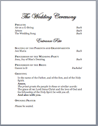 catholic mass wedding program template spirals spatulas catholic wedding program