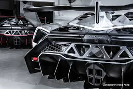 Lamborghini Veneno Back - two lamborghini venenos roadster in hong kong