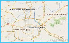 map of xi an map of xi an xianyang travelsmaps
