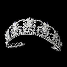 bridal tiara navy blue rhinestone wedding bridal tiara