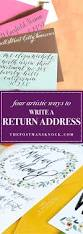 four artistic ways to write a return address the postman u0027s knock
