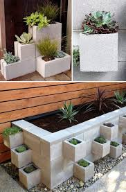 Backyard Planter Ideas Triyae Com U003d Cinder Block Wall Backyard Various Design