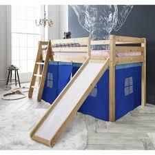 Cabin Bed Slide  Blue Tent Noa  Nani - Mid sleeper bunk bed
