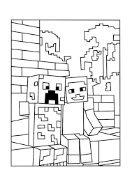 minecraft color pages best minecraft world coloring pages free