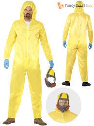 breaking bad costume mens breaking bad costume gas mask walter white hazmat yellow suit