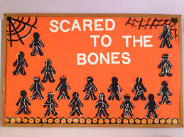 halloween bones background halloween bulletin board idea where students create skeletons