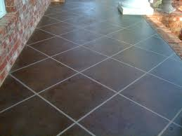 Patio Paint Concrete by Concrete Porch Painted To Look Like Tile My Diy Pinterest