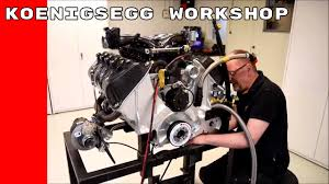 koenigsegg engine block working at koenigsegg workshop youtube