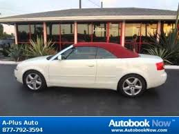 white audi a4 convertible for sale 2004 audi a4 cabriolet 3 0 in hallandale fl for sale