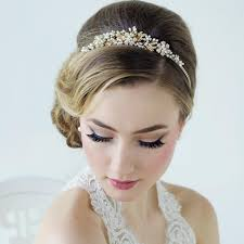 bridal tiara bethany luxe bridal tiara in gold louise bridal