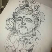 sketch buddha buddhatattoo tattoosketch flash japanese inprogress