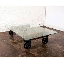 Glass Coffee Table With Wheels Coffee Table With Wheel