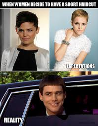 Short Hair Meme - women with short hair expectation v s reality y so serious