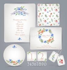 set of templates for celebration wedding stock vector