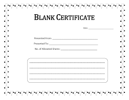 printable blank certificate template word calendar template