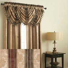 curtains and window treatments long brown tips curtains and