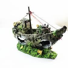 Sailing Boat Artificial Aquarium Decorations Fish Tank