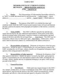 9 free sample memorandum agreement templates u2013 printable samples
