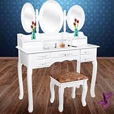 coiffeuse blanche si e avec miroir inclus kesser blanc coiffeuse table de maquillage grand commode avec 3