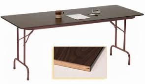 24 x 60 folding table 24 x 60 heavy duty plywood core folding table other sizes available