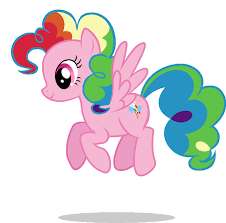 Pinkie Pie And Rainbow Dash Is Pinkie Pie Cuter With Hair Or Poofy Hair Show