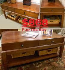 Broyhill Computer Desk Broyhill Laurel Hills End Coffee U0026 Sofa Tbls Set 868 3 1 Jpg