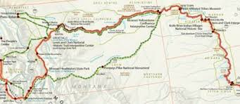 missouri breaks map maps lewis clark national historic trail u s national park