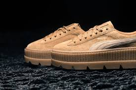 Sneaker Puma Fenty By Rihanna Cleated Creeper Golden Brown Lark
