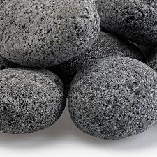 Fire Pit Glass Stones by Amazon Com American Fireglass 10 Lbs Grey Tumbled Lava Stones For