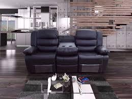 Living Room Furniture On Finance Raman Bonded Leather Recliner Sofa Set U0026 Drink Holder Finance Now