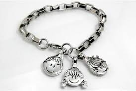 stainless steel bracelet charms images Stainless steel bracelet and 3 charms bellezura jpg