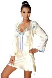 ivory satin nightdress u0026 robe ladies luxury nightwear